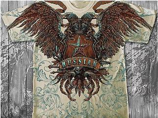 «Орёл двуглавый» тотальная футболка мужская