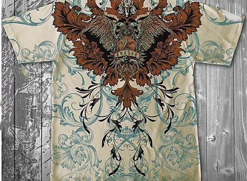 «Орёл двуглавый» тотальная футболка мужская, фото 2