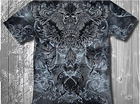 «Орёл двуглавый» тотальная футболка мужская, фото 3