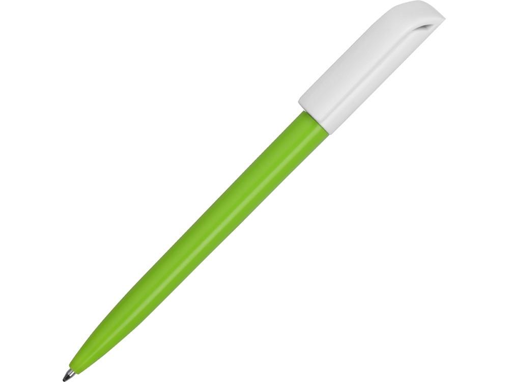 Ручка пластиковая шариковая Миллениум Color BRL, зеленое яблоко/белый