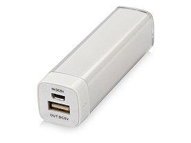 Портативное зарядное устройство Ангра, 2200 mAh, белый