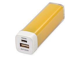 Портативное зарядное устройство Ангра, 2200 mAh, желтый