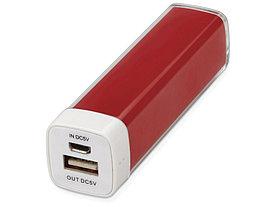 Портативное зарядное устройство Ангра, 2200 mAh, красный