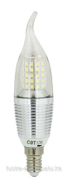 Лампа Свеча Серебро 12вт 3000K E14 SAT (411)