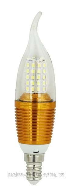 Лампа Свеча Золото 12вт 3000K E14 SAT