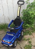 Каталка-машинка с родительской ручкой 444 синий, фото 1