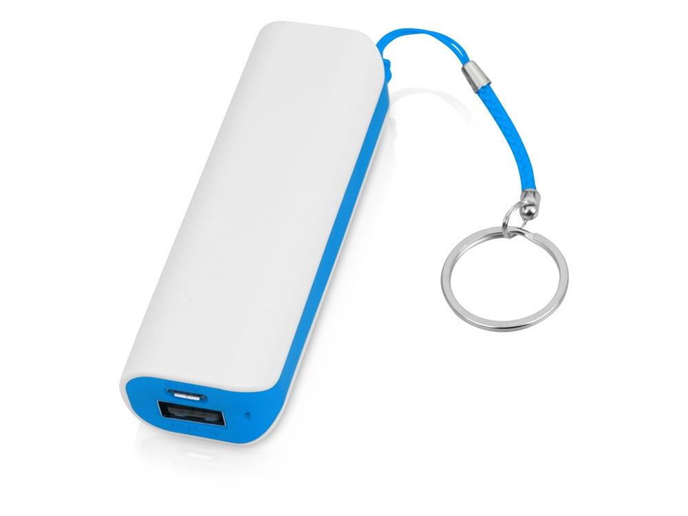 Портативное зарядное устройство (power bank) Basis, 2000 mAh, белый/светло-голубой
