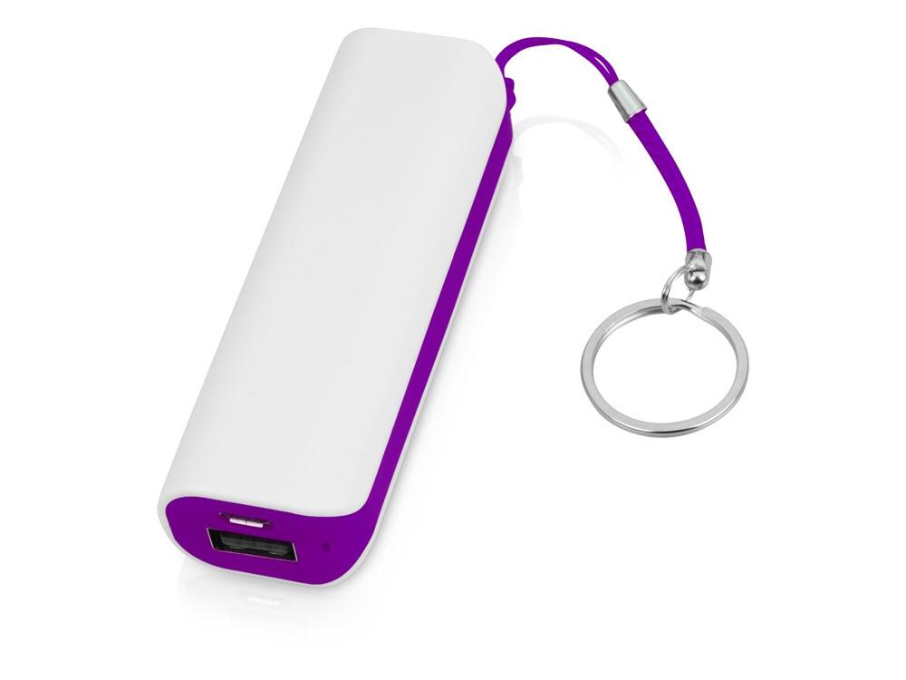 Портативное зарядное устройство (power bank) Basis, 2000 mAh, белый/фиолетовый