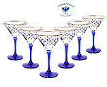 Набор из 6 бокалов для мартини Кобальтовая сетка, фото 2