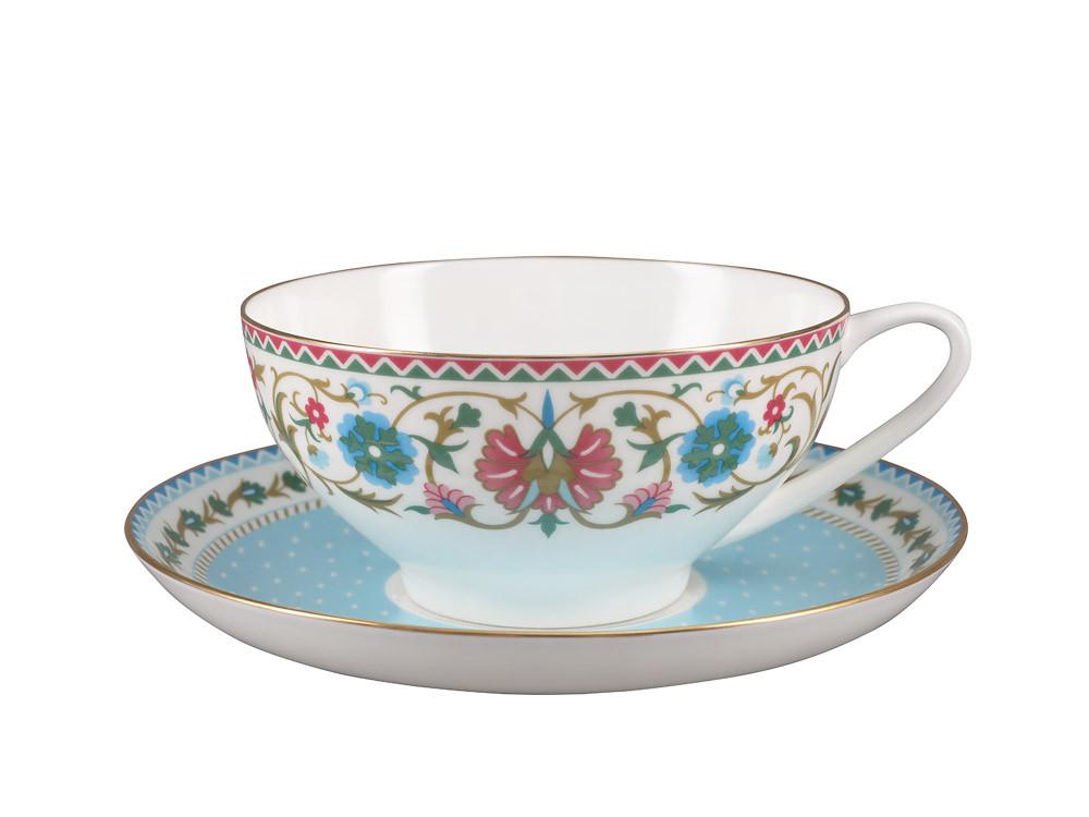 Чашка с блюдцем Восточная вязь. Императорский фарфор, авторская работа