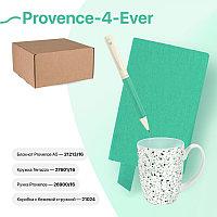 Набор подарочный PROVENCE-4-EVER: бизнес-блокнот, ручка, кружка, коробка, стружка, мятный, Разные цвета, -,