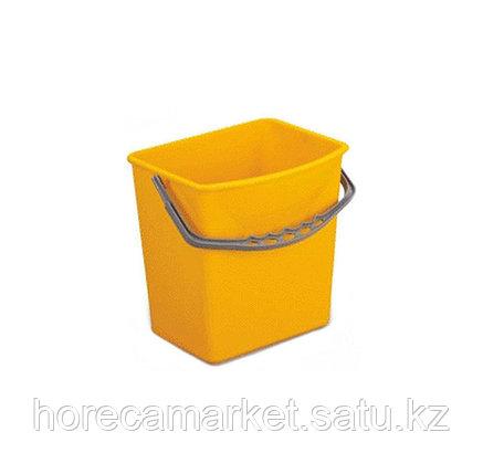 Ведро для уборочного комплекта 5 л желтое, фото 2