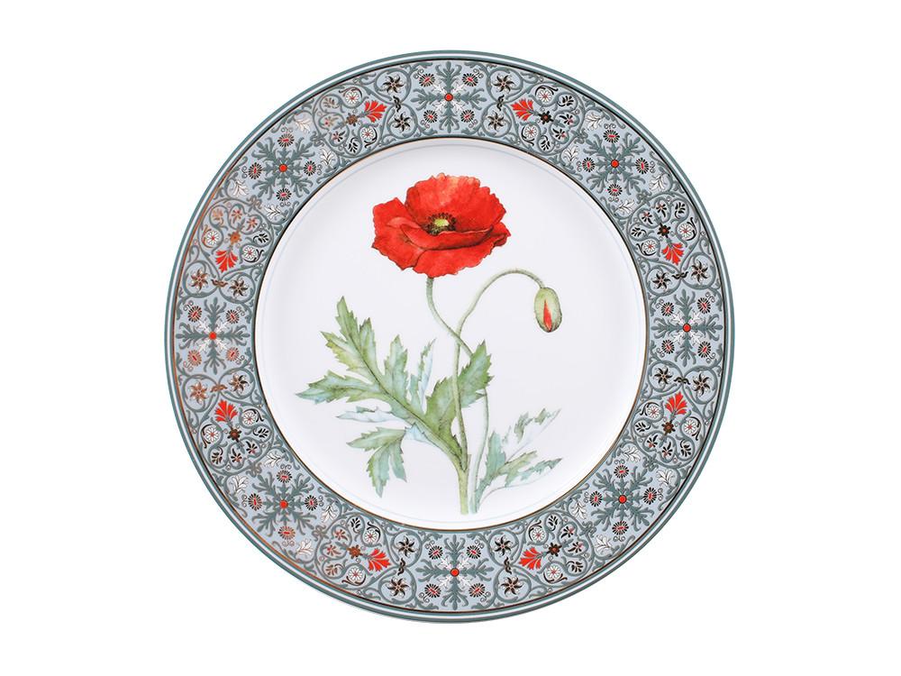 Декоративная тарелка Мак восточный. Императорский фарфор