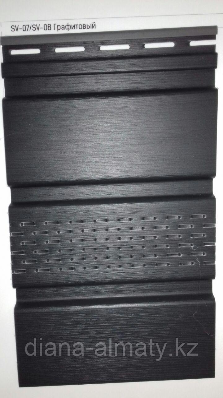 Соффит виниловый VOX  (графит) 0,3*3м