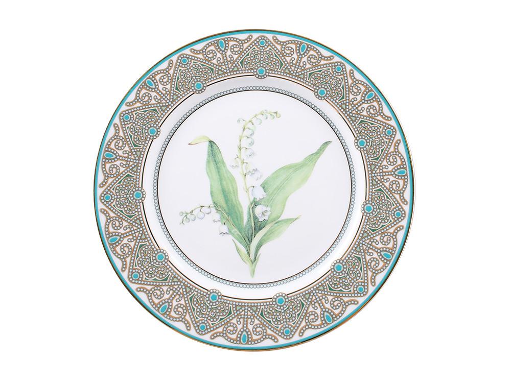 Декоративная тарелка Ландыш майский. Императорский фарфор