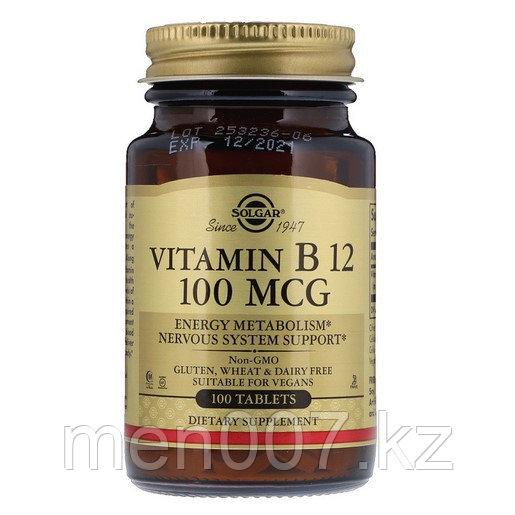 БАД Витамин B-12 Solgar 100 мкг (100 таблеток)