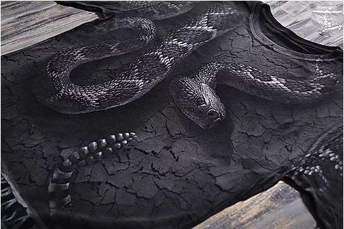 «Гремучая змея» тотальный двусторонний мужской лонгслив в Алматы, фото 2