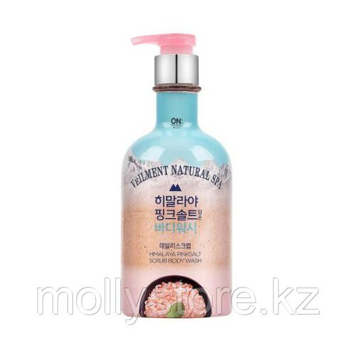 On The Veilment Natural Spa Гималайская розовая соль скраб для тела для мытья тела 600гр