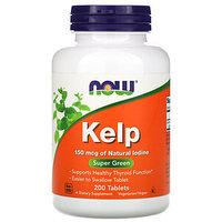 Келп (бурая водоросль)  / NOW - Kelp 150 mcg 200 tabs