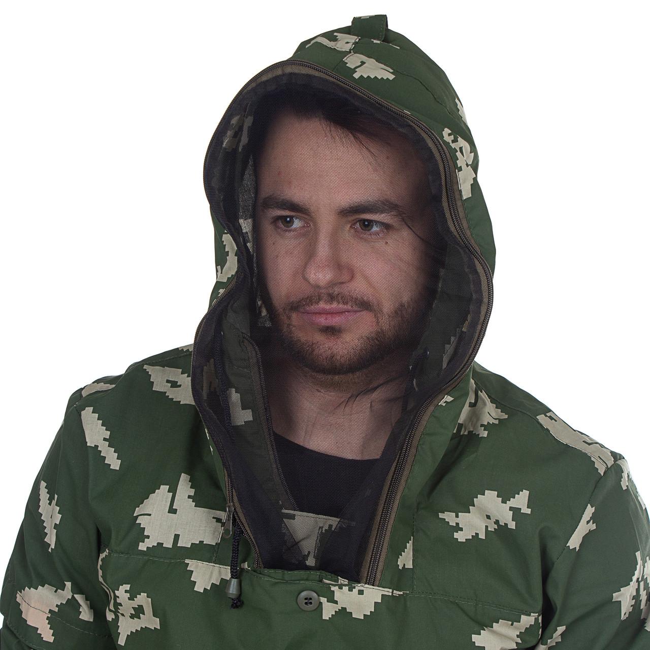 Костюм для охоты и рыбалки летний Антигнус цвет Березка ткань Смесовая Сорочка Размеры от44до64 - фото 5