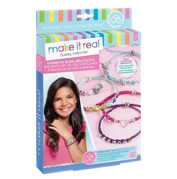 Make It Real Набор для создания Шарм-браслетов Яркая радуга