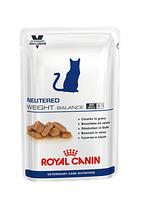 Royal Canin Neutered Weight Balance в соусе, влажный корм для кастрированных/стерилизованных котов и кошек
