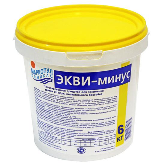 """Порошок для понижения уровня pH Маркопул """"ЭКВИ-минус"""" (ведро, 6 кг)"""