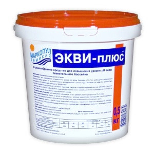 "Порошок для повышения уровня pH Маркопул ""ЭКВИ-плюс"" (ведро,  0,5 кг)"
