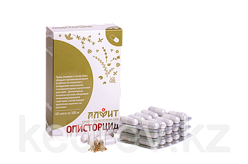 Средство от описторхоза «Описторцид» 30 г (60 капсул по 500 мг).