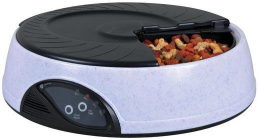 Автоматическая кормушка Trixie для сухого и влажного корма на 24 часа - 4х500 мл