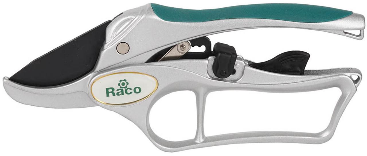 Секатор, Raco, рез до 20 мм, 200 мм, алюминиевые рукоятки, храповый механизм (4206-53/150C)