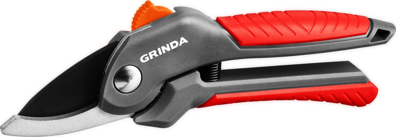 Плоскостной секатор, Grinda, 200 мм, с двухкомпонентными рукоятками (423122)