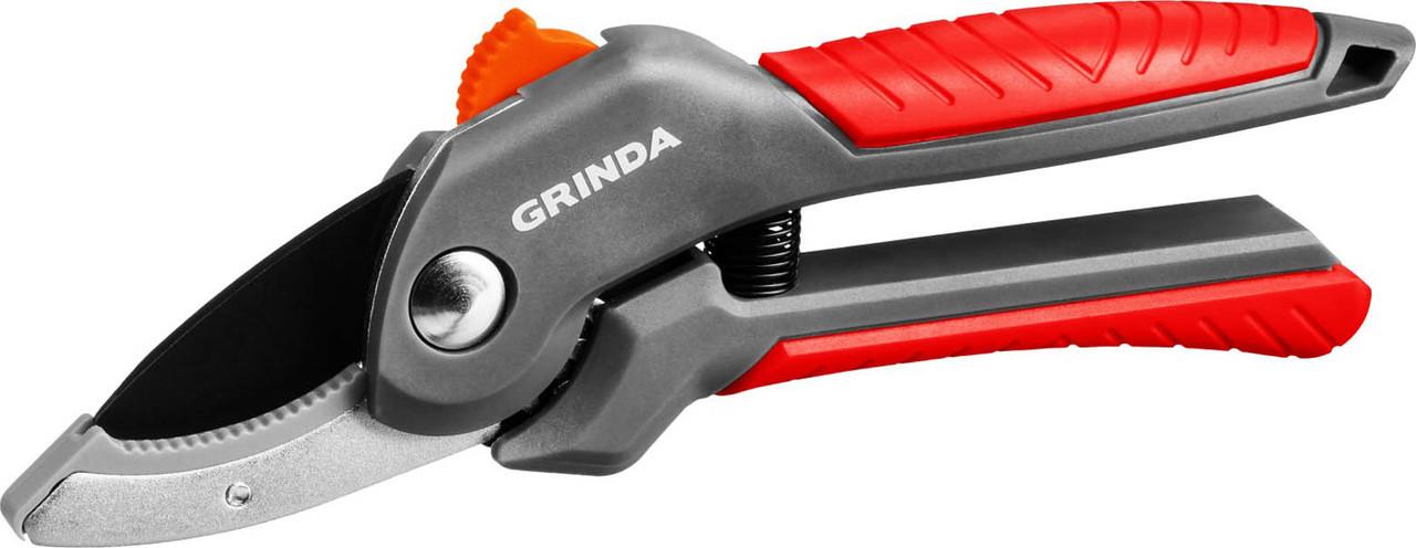 Секатор, Grinda, 200 мм, с двухкомпонентными рукоятками контактный (423124)