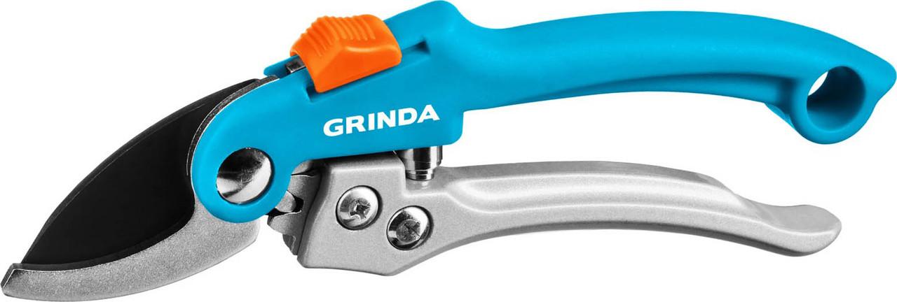 Плоскостной секатор, Grinda, 200 мм, c двухкомпонентными рукоятками (423451)