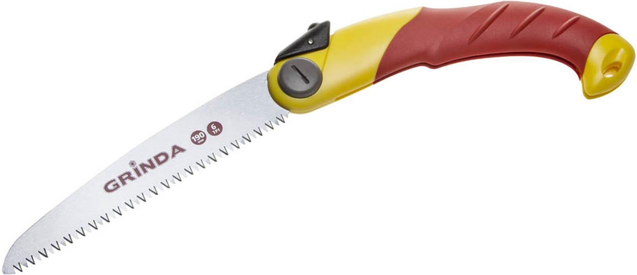 Ножовка садовая складная, Grinda, 190 мм, шаг зуба 4 мм (6 TPI), 3-D заточка (8-151881_z01)