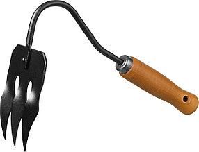 Грабли-рыхлитель PROLine с деревянной ручкой, Grinda, 265 мм, 3 зубца (421514)