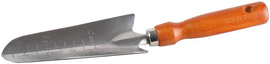 Совок посадочный, Grinda, 290 мм, нержавеющая сталь, деревянная ручка (8-421113_z01), фото 2