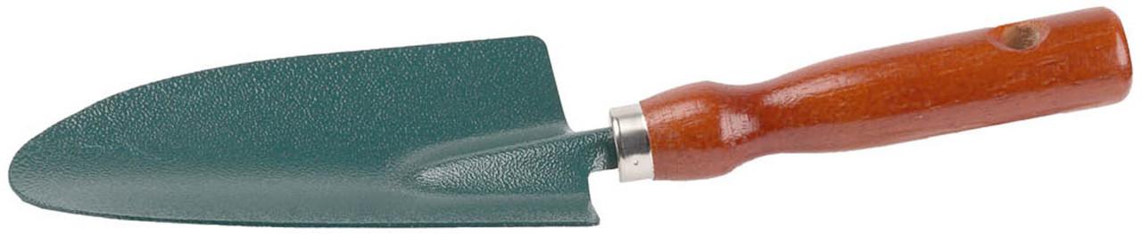 Совок посадочный, Grinda, 290 мм, углеродистая сталь, деревянная ручка (8-421211_z01)