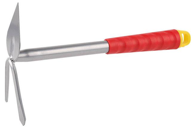 Мотыжка садовая Grinda, 310 мм, 2 зубца, коннекторная система, сердцевидное лезвие (8-421437_z01), фото 2
