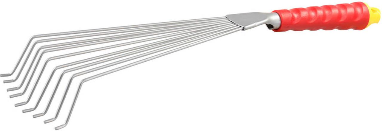 Грабельки веерные с круглыми зубцами, Grinda, 460 мм, 9 зубцов (8-421451_z01)