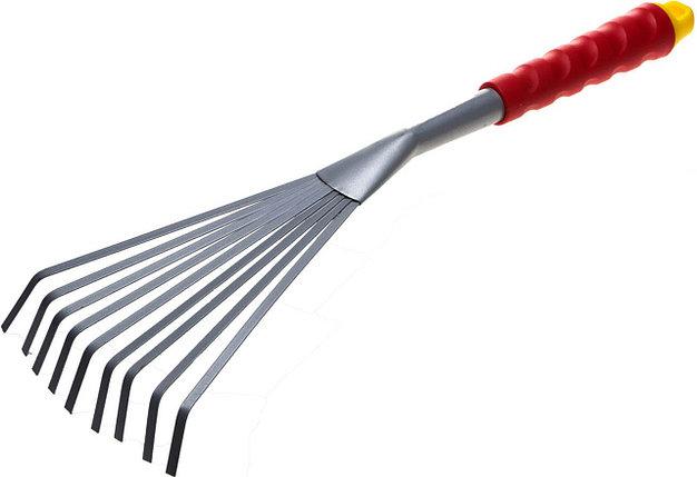 Грабельки веерные с плоскими зубцами, Grinda, 420 мм, коннекторная система (8-421453_z01), фото 2