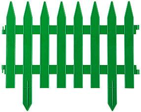 Забор декоративный КЛАССИКА, Grinda, 28х300 см, зеленый (422201-G)
