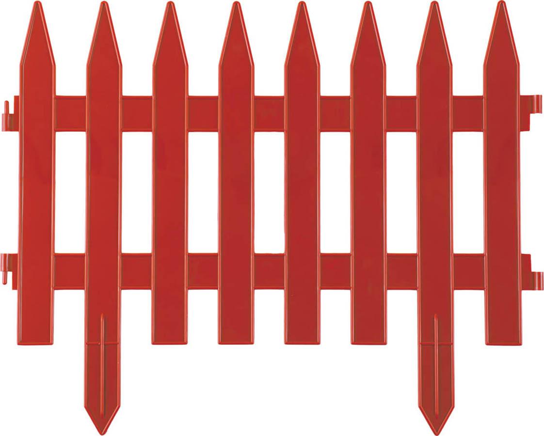 Забор декоративный КЛАССИКА, Grinda, 28х300 см, терракот (422201-T)