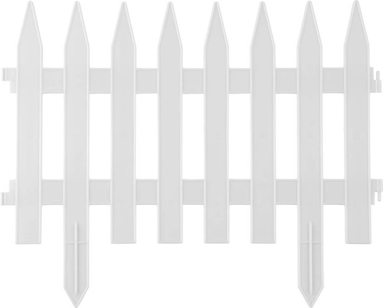 Забор декоративный КЛАССИКА, Grinda, 28х300 см, белый (422201-W)