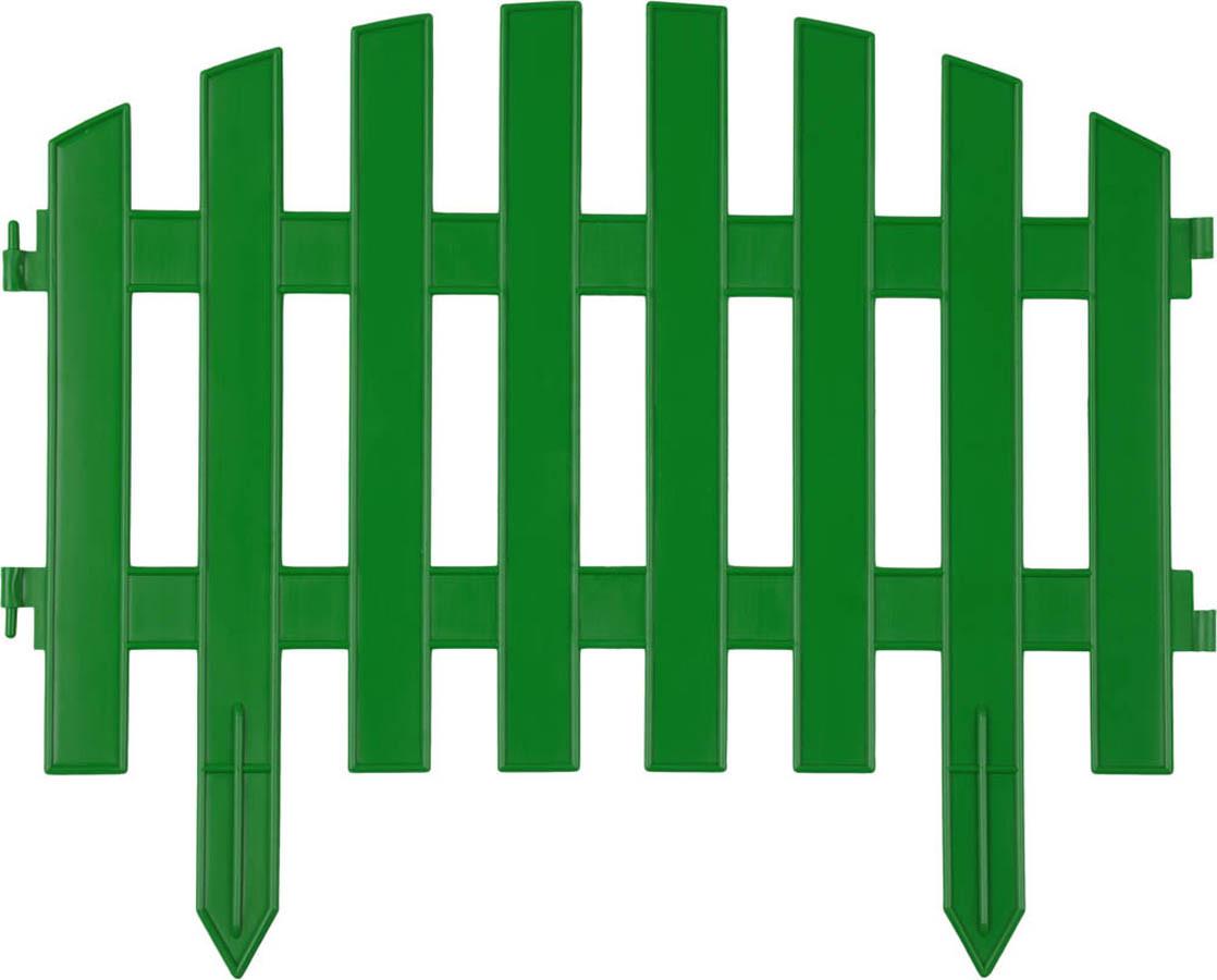 Забор декоративный АР ДЕКО, Grinda, 28х300 см, зеленый (422203-G)