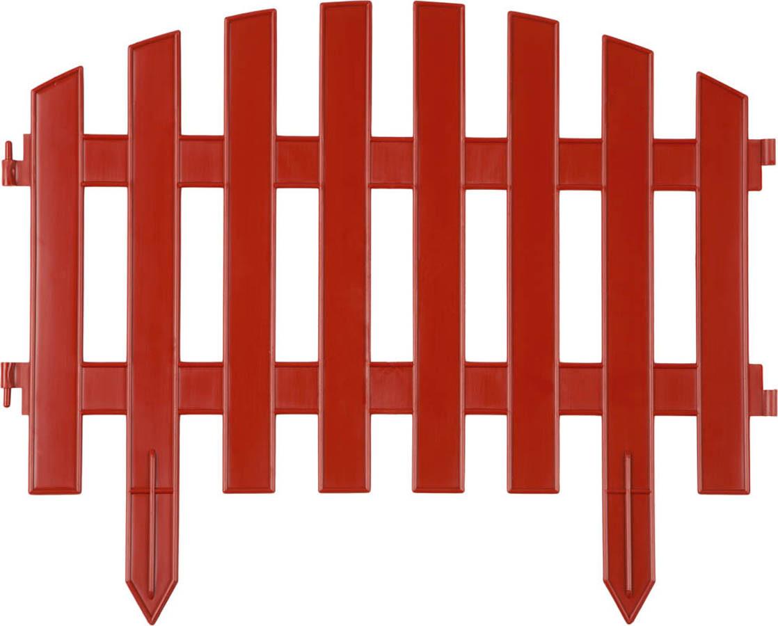 Забор декоративный АР ДЕКО, Grinda, 28х300 см, терракот (422203-T)