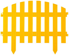 Забор декоративный АР ДЕКО, Grinda, 28х300 см, желтый (422203-Y)