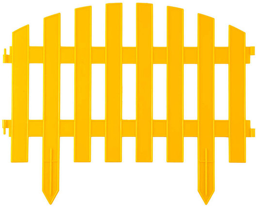 Забор декоративный АР ДЕКО, Grinda, 28х300 см, желтый (422203-Y), фото 2