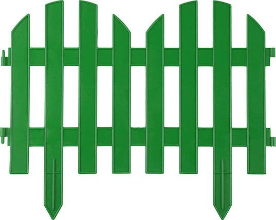 Забор декоративный ПАЛИСАДНИК, Grinda, 28х300 см, зеленый (422205-G), фото 2