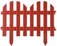 Забор декоративный ПАЛИСАДНИК, Grinda, 28х300 см, терракот (422205-T)